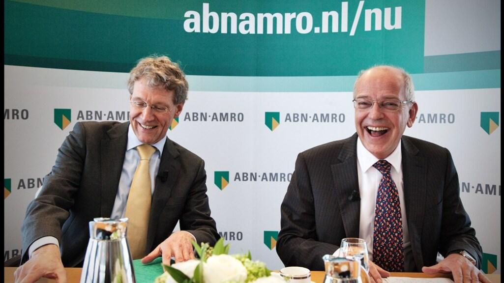 Jan van Rutte (links) in betere tijden, met Gerrit Zalm als topmannen van ABN Amro.