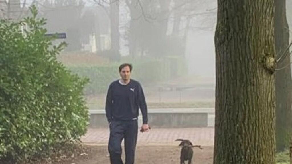 Wopke Hoekstra en hond Jet