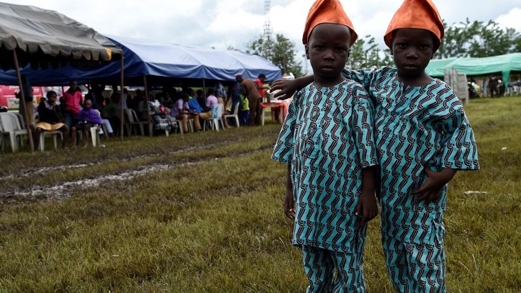 Tweeling in Nigeria.