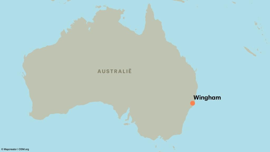 Het stel trouwde uiteindelijk toch in Wingham, in de staat New South Wales.