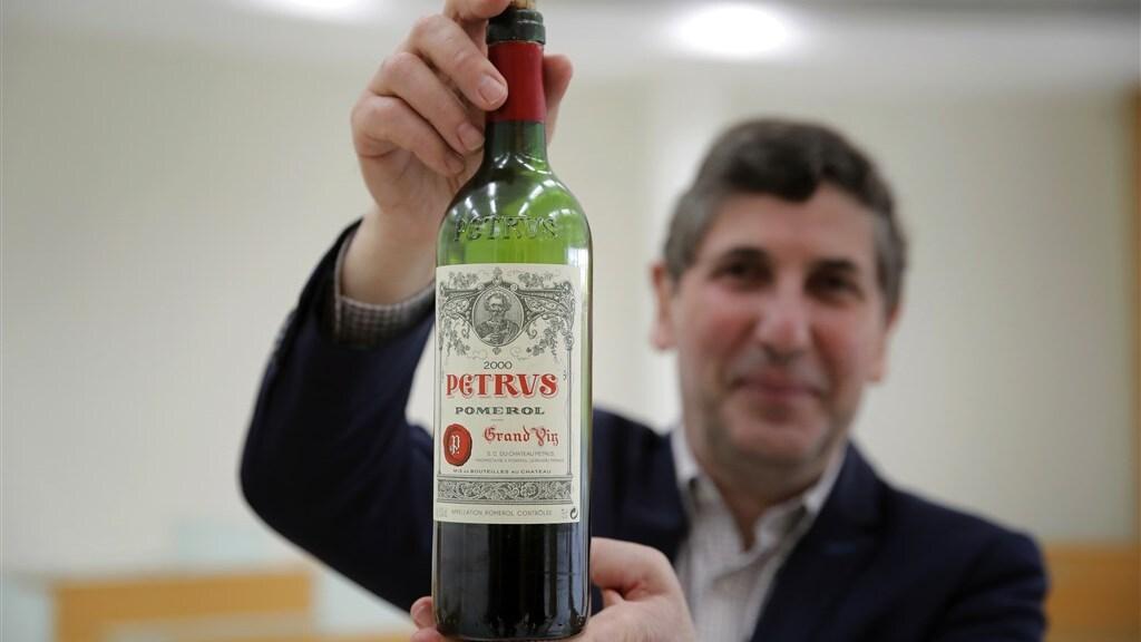 De Pétrus-wijn die eerder dit jaar terugkeerde uit de ruimte.