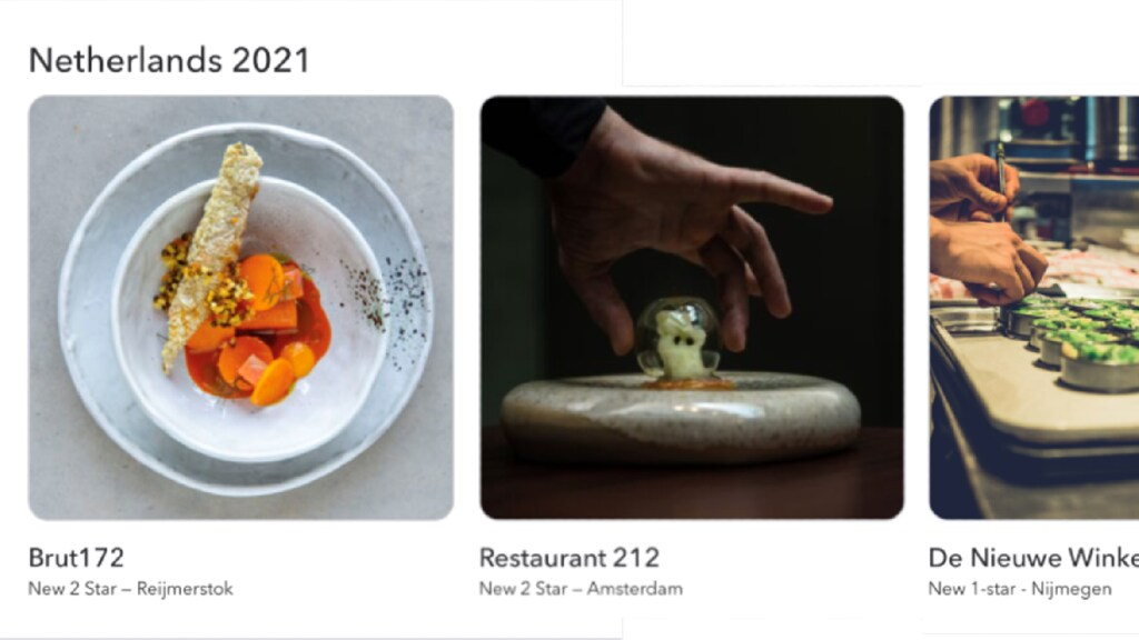 Screenshot uit de app van de Michelingids
