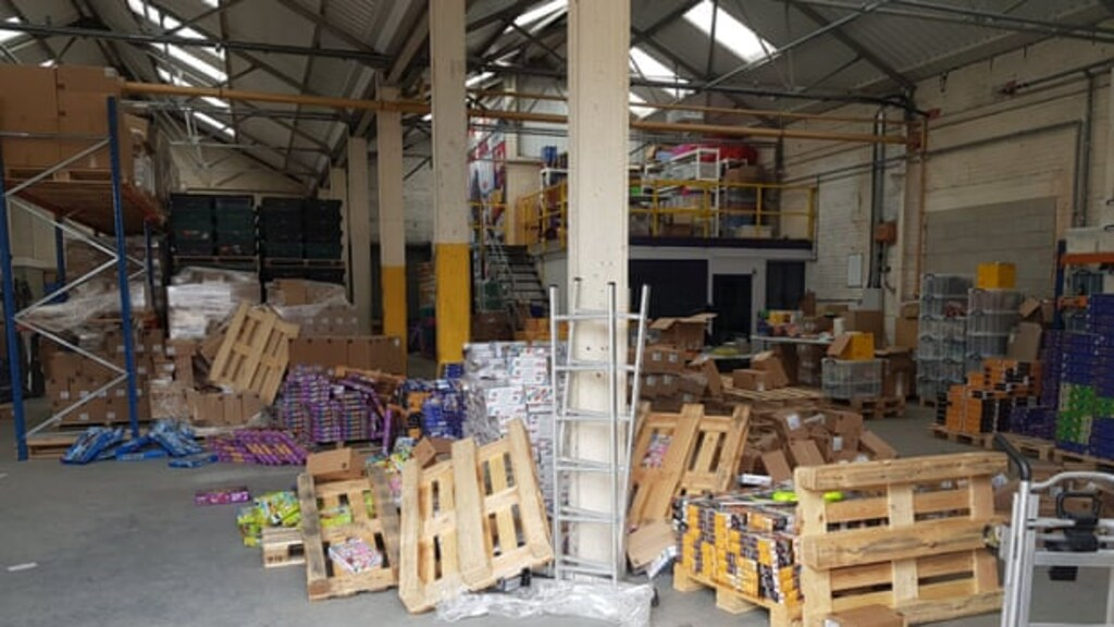 De Engelse opslagplaats waar de Lego in 2020 werd gestolen.