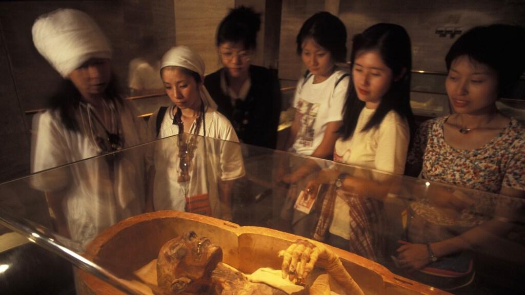 De mummie van farao Ramses II. Overleden rond 1200 voor Christus. Dankzij een speciale behandeling nog altijd te zien.