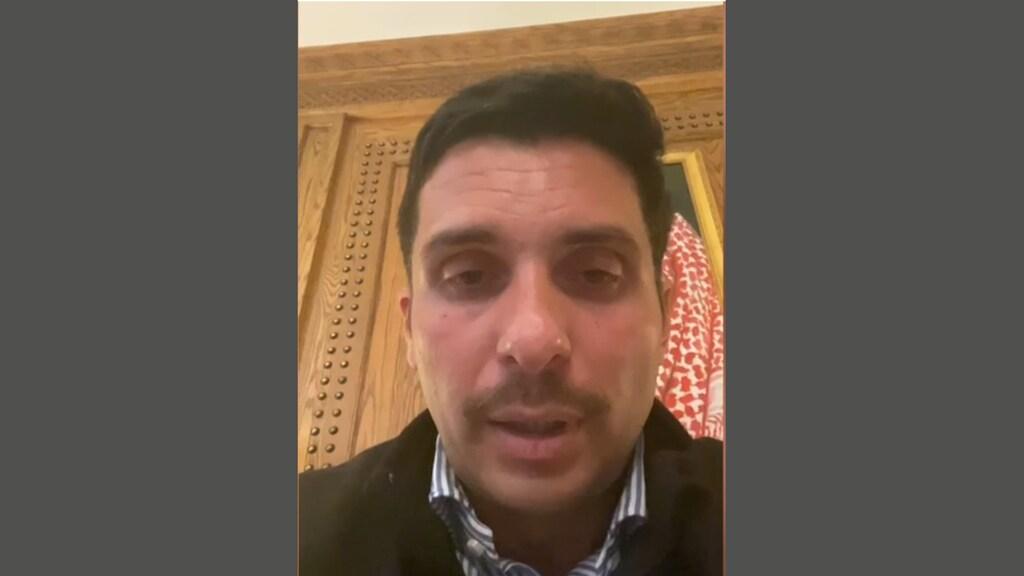 Prins Hamzah in een videoboodschap over zijn huisarrest: 'Ik mag met niemand communiceren.'