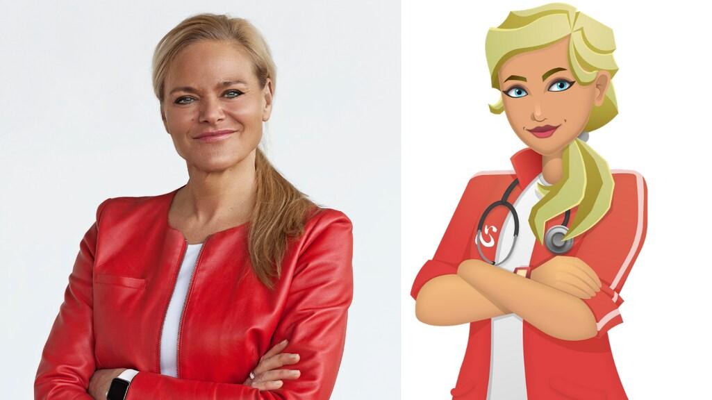 Cardioloog Janneke Wittekoek en haar avatar