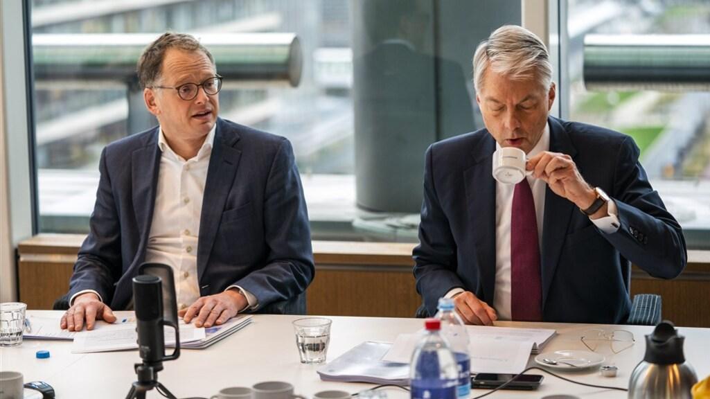 Cfo Pieter Veuger en ceo Maurice Oostendorp in februari 2020 tijdens de presentatie van de jaarcijfers over 2019.