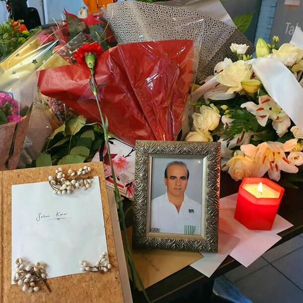 Een herdenkingsplekje voor Selim, in zijn restaurant