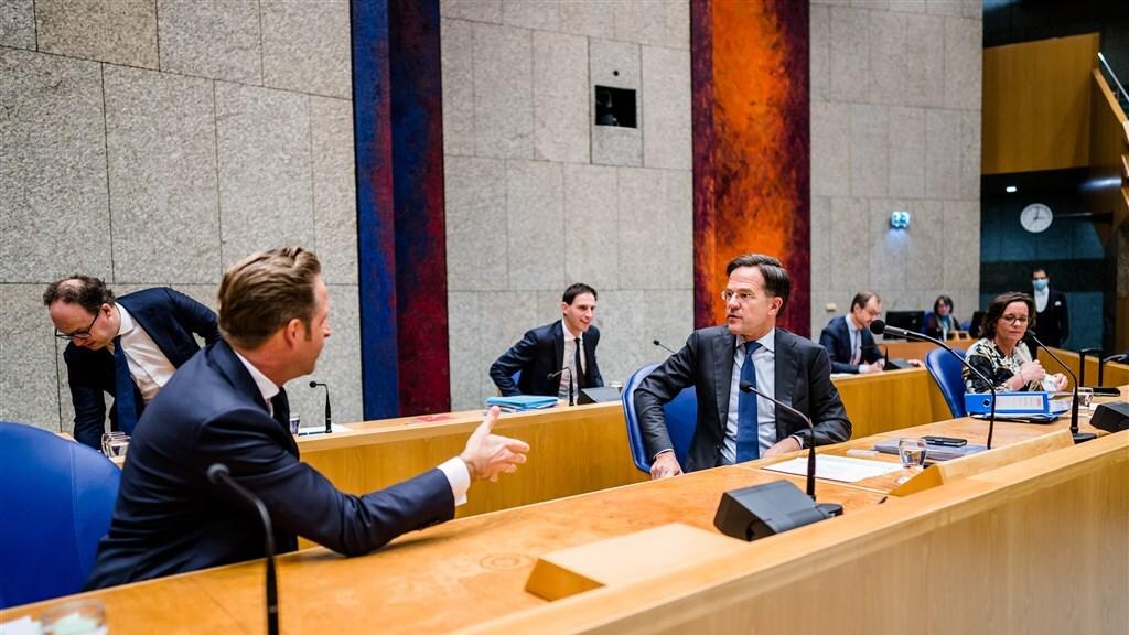 Een aantal ministers van het kabinet Rutte-3.