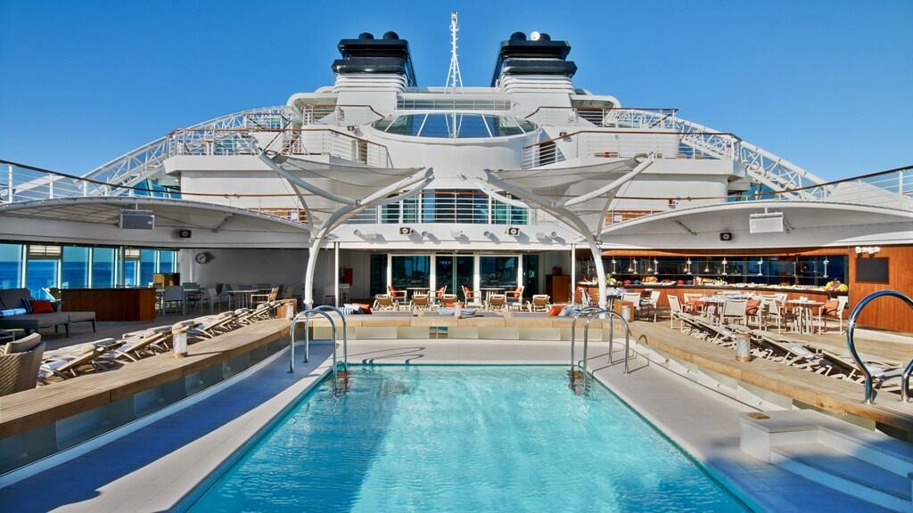 Het pool deck.