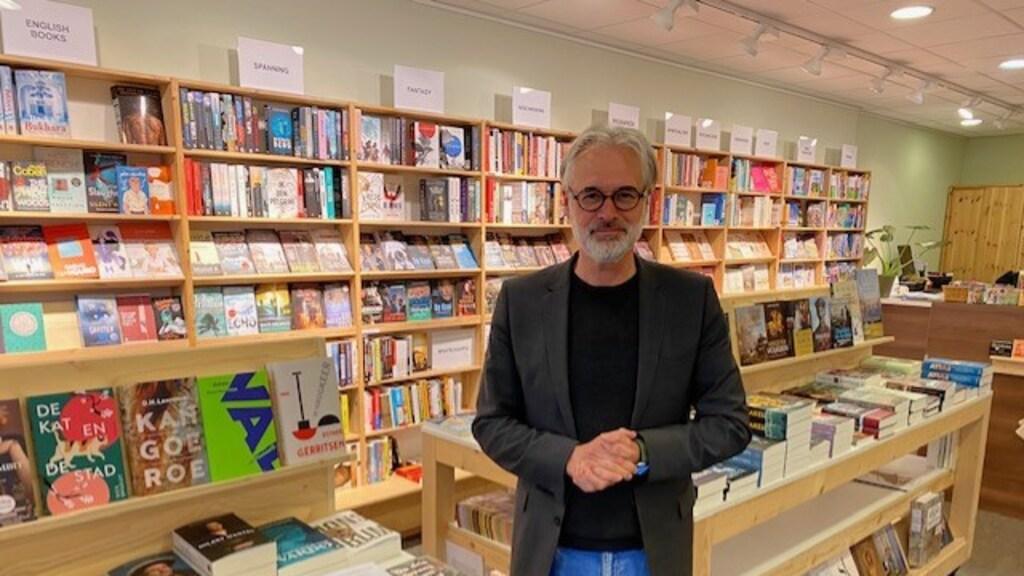 Henk Schulte, eigenaar van Boekhandel Het Leesteken in Purmerend.