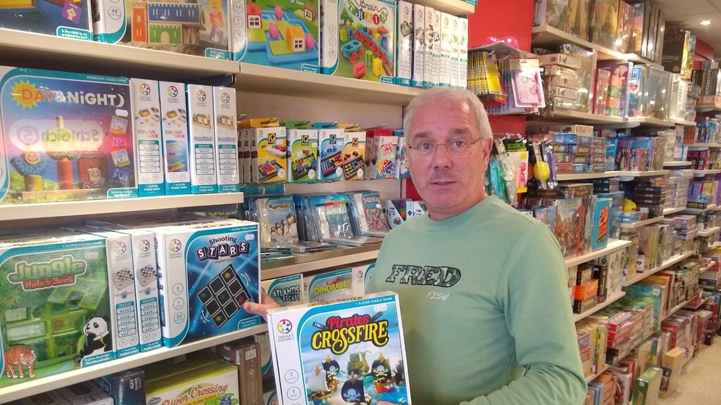Peter van den Nouwland, eigenaar van Game Time in Haarlem.
