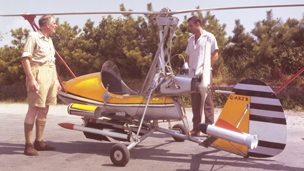 De autohelikopter van 'Q' voor James Bond in You Only Live Twice (1967).