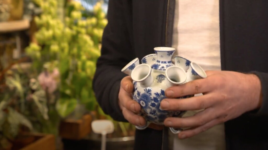 Delfts blauwe tulpenvaas