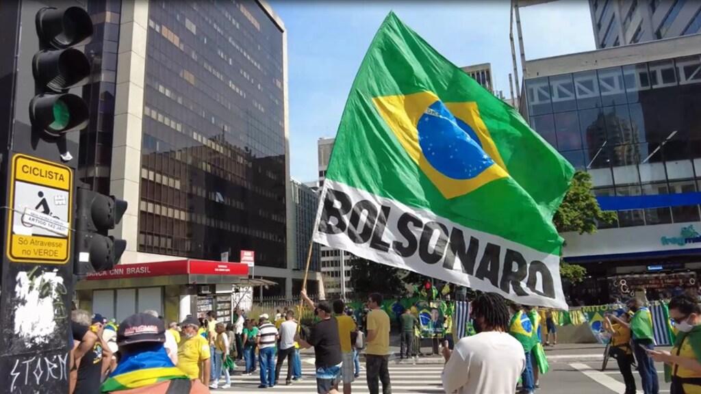 De aanhangers van Bolsonaro gingen deze week de straat op