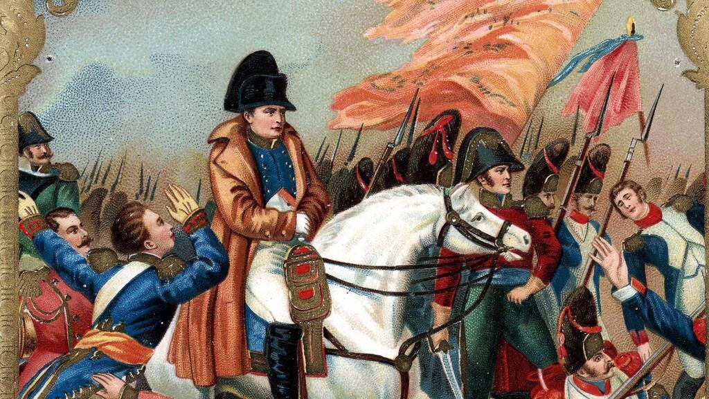 Illustratie Slag bij Waterloo.