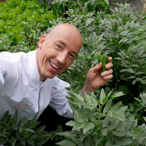 Topchef Luc Kusters heeft al jaren een groentemenu.