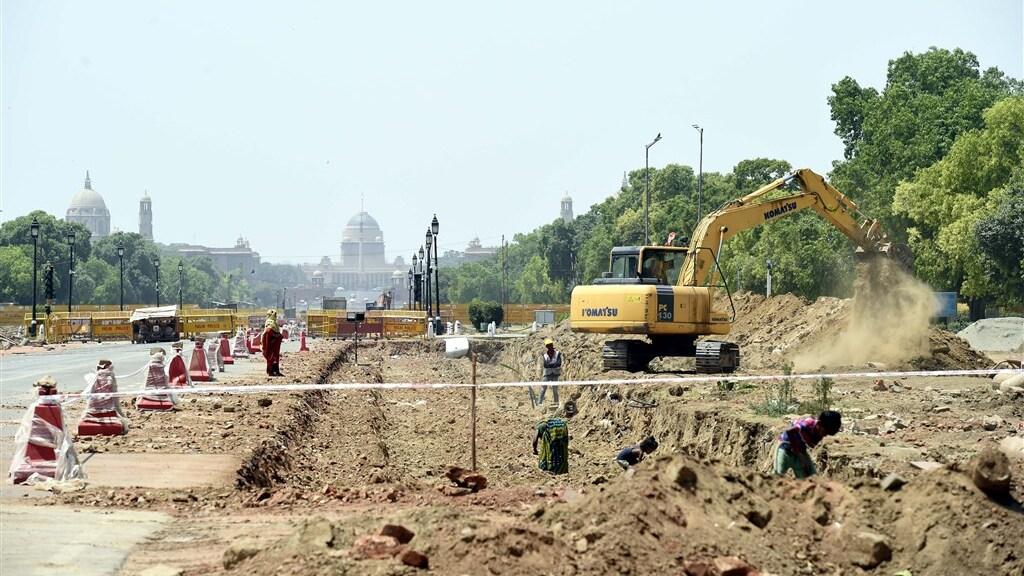 Het bouwproject wordt het Central Vista project genoemd.