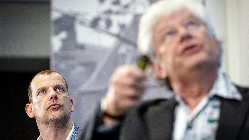 Andy Palmen (l), directeur Greenpeace Nederland, en ecoloog Roland Bobbink.