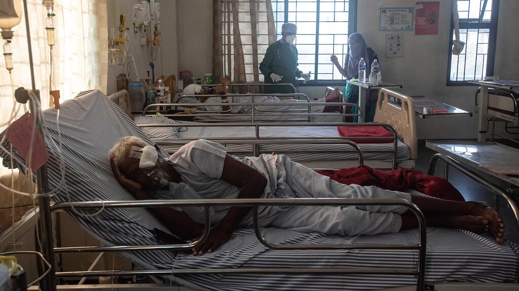 Coronapatiënten in India geïnfecteerd met zwarte schimmel