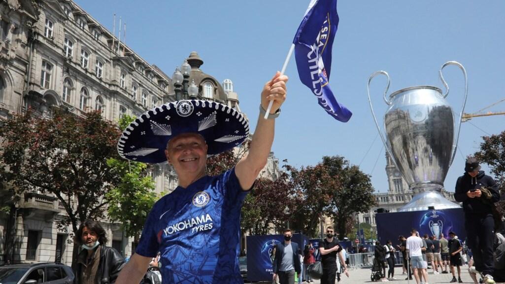 Chelsea-supporters in Porto.