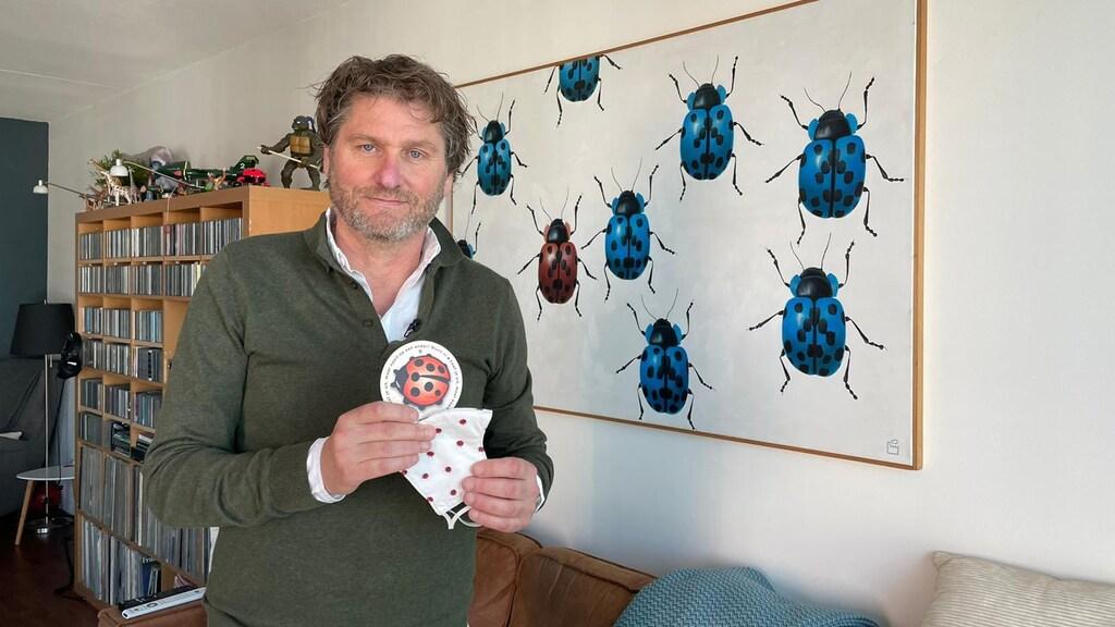 Bart Wisbrun en 'zijn' lieveheersbeestje