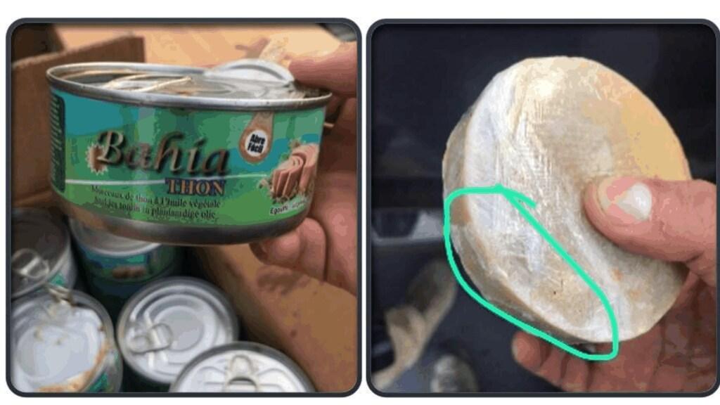 Foto's die werden verstuurd via Anom die laten zien hoe drugs worden verstopt