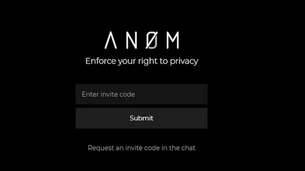 Een screenshot van de website van Anom.