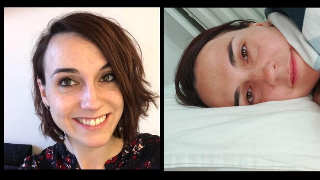 Natascha vijf maanden geleden en nu