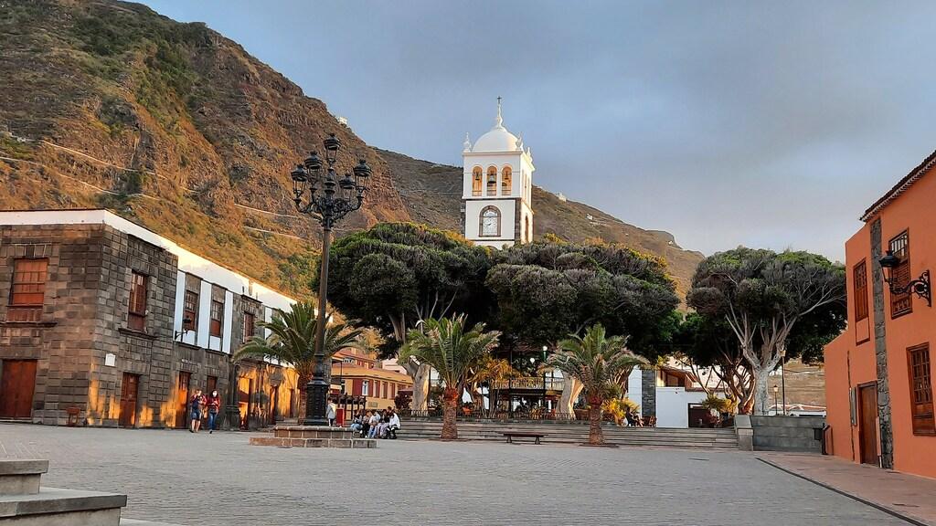 Het dorpsplein van Garachico.