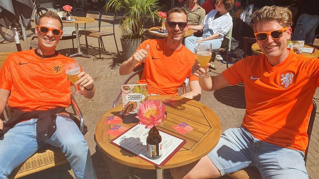 Van links naar rechts: Thomas, Dave en Roelant uit Nijmegen