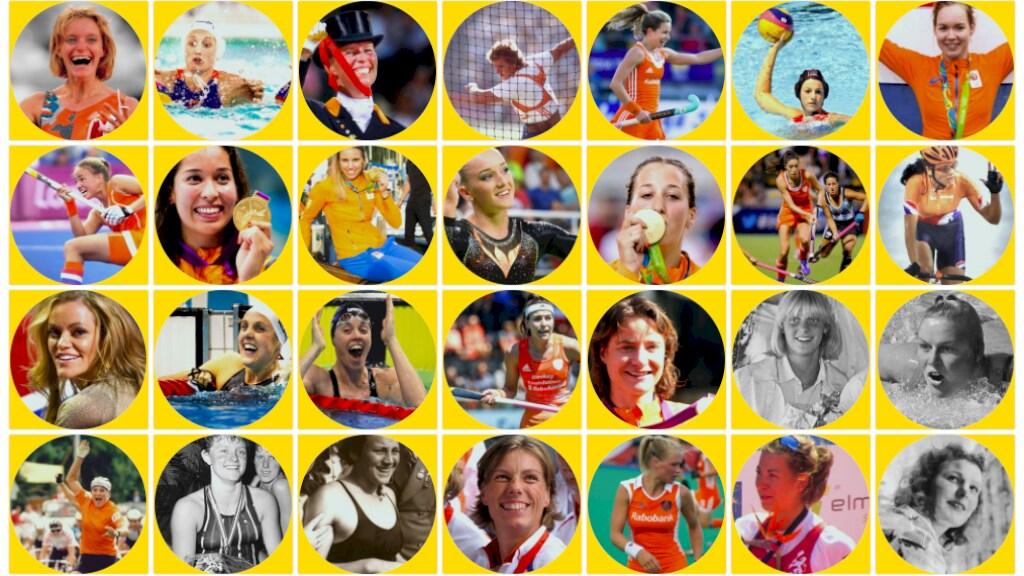 Een greep uit de vele Nederlandse vrouwen die Olympisch goud veroverden.