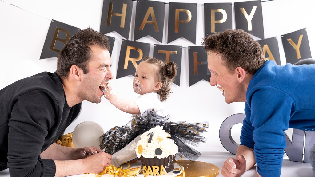 Frits en Joey met hun dochter Sara