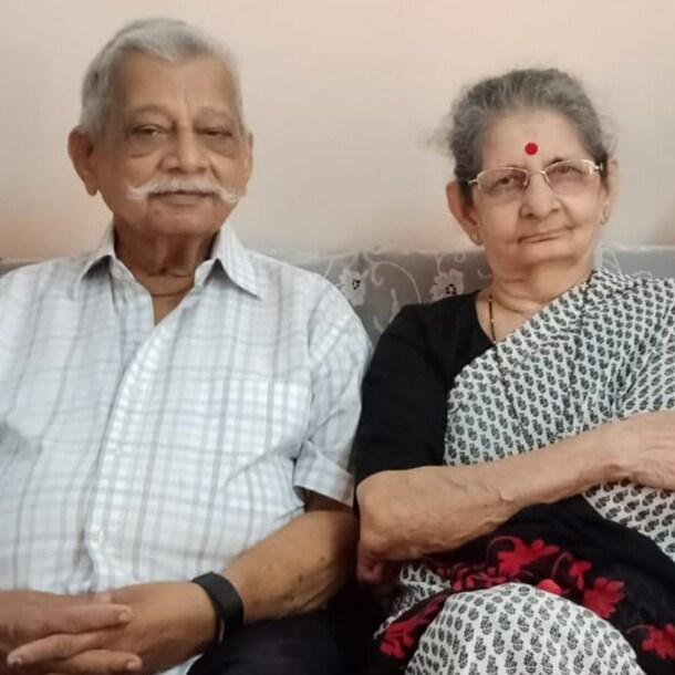 Amarnath en Geeta, de vader en moeder van Frank