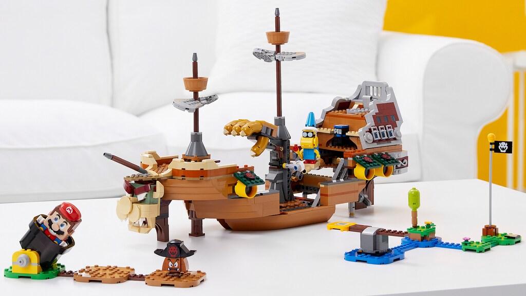 Met het grote Bowser-luchtschip heeft Lego Mario een echte eindbaas.