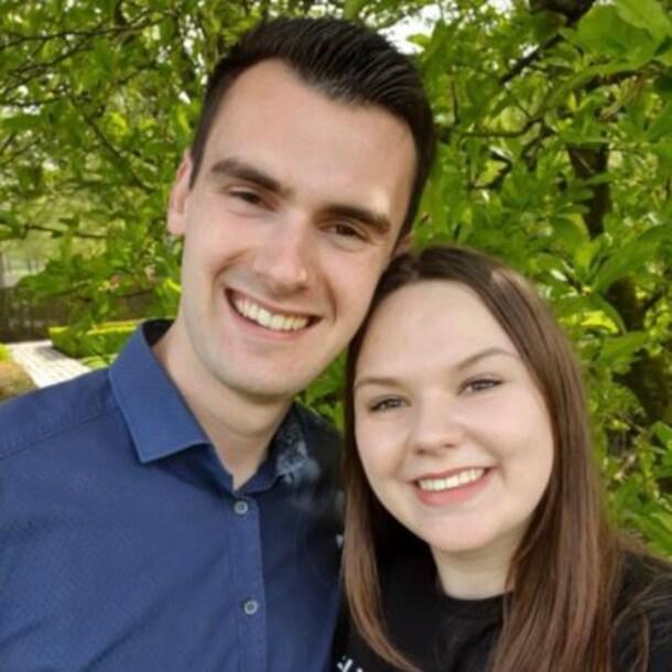 Timo, samen met zijn vriendin
