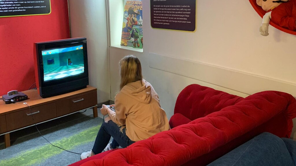 De N64 in het Nationaal Videogame Museum
