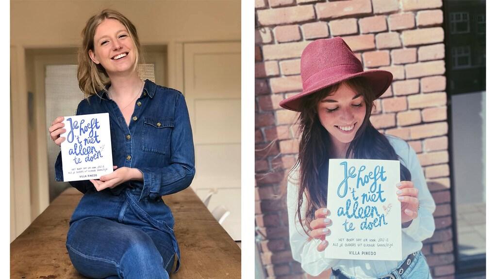 Sophie Mulder (l) en Demi Keppel van Villa Pinedo schreven vanuit hun eigen ervaringen een boek
