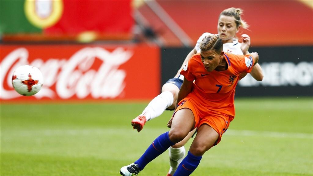Shanice kopt het winnende doelpunt binnen tegen Noorwegen