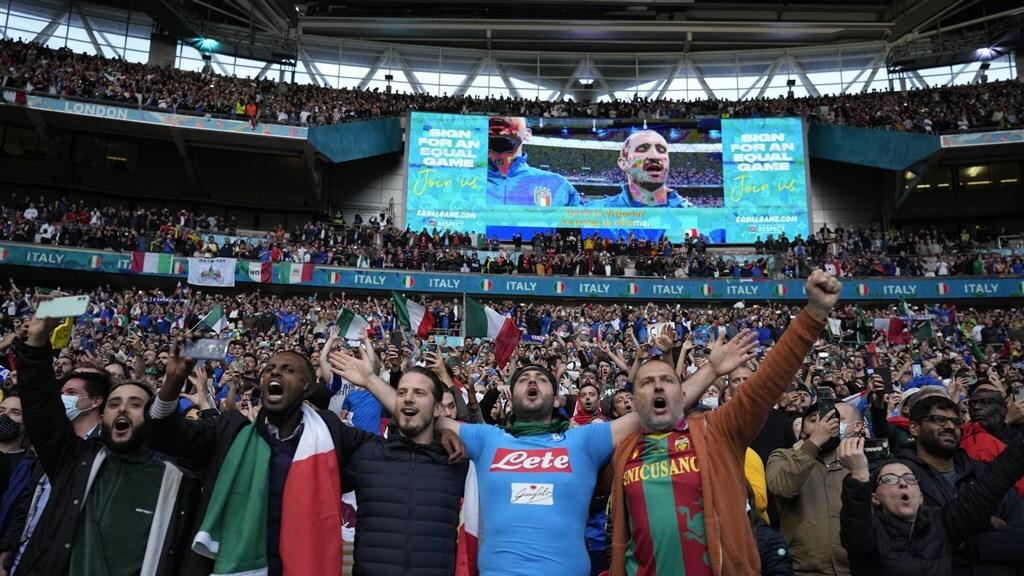 Uitbundige Italiaanse fans.