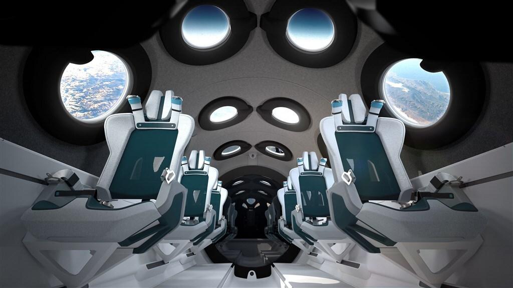 Virgin Galactic Spaceship - interieur