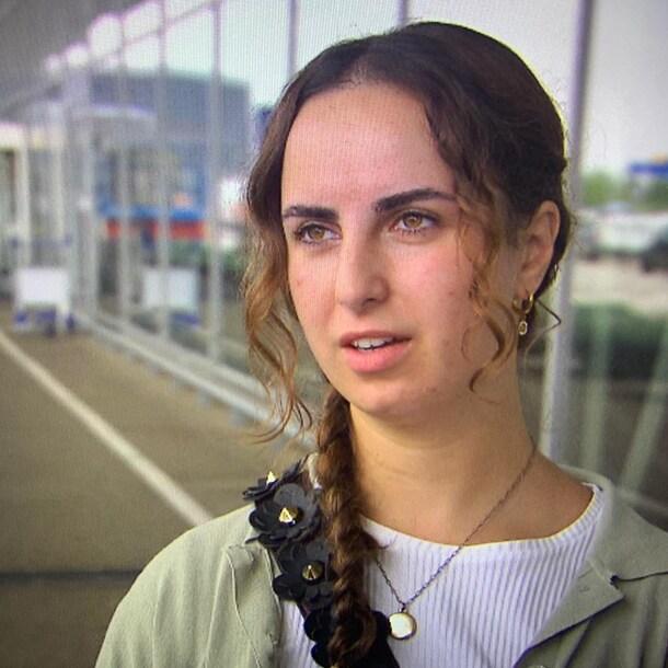 Dalia op Schiphol