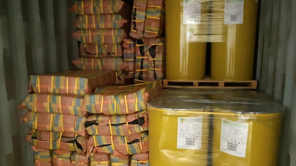 De cocaïne zat verstopt in vaten bananenpuree