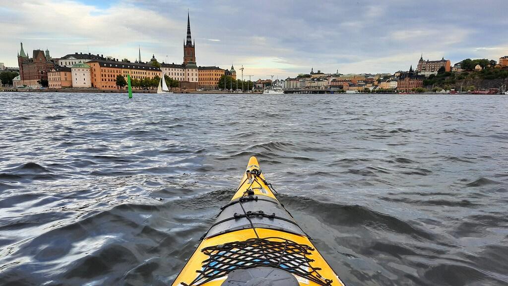 Kajakken door Stockholm.