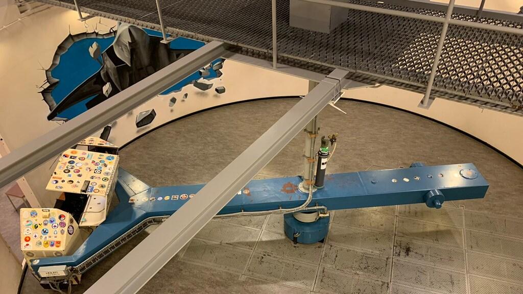 In deze centrifuge draaide Maarten rondjes