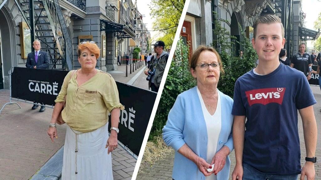 Els Aalten (links) en Tim en zijn oma Anita.