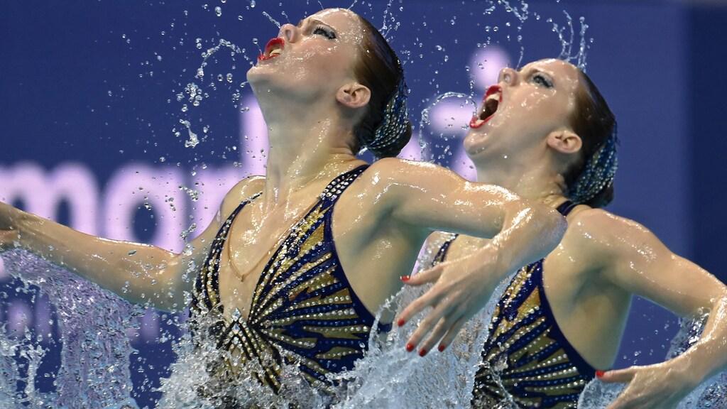 Synchroonzwemmen met passie, dat kunnen de dames