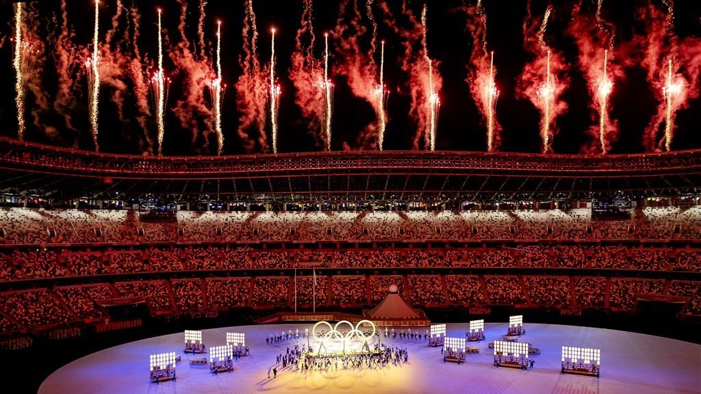 Het bijna lege Olympisch Stadion