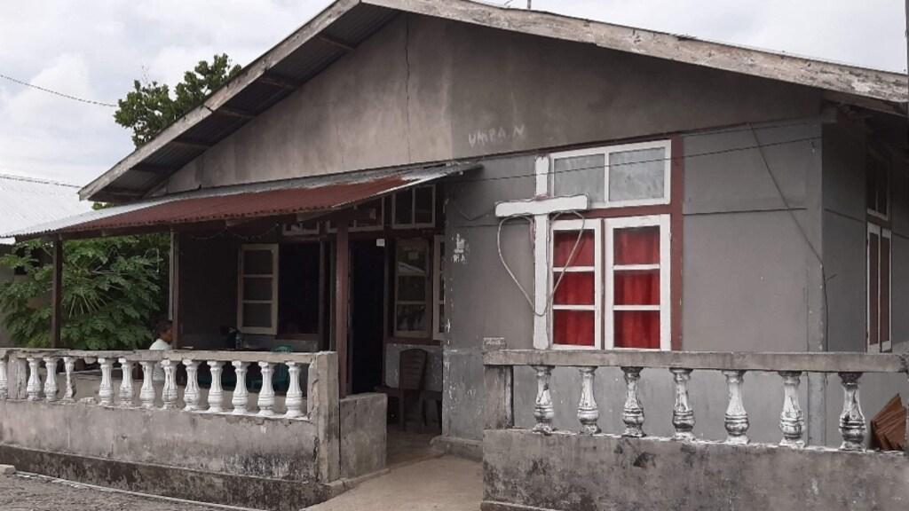 Het huis van haar schoonouders waar Arbaya is bevallen.