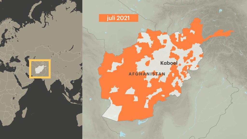 Talibangebieden in juli 2021. Bron: The Long War Journal.